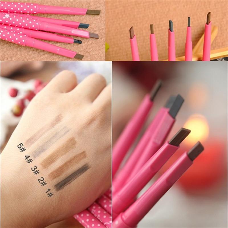 Nuevo lápiz de cejas duradero 1 Uds., impermeable Natural, rotación automática, lápiz de cejas, lápiz cosmético para dar forma a las cejas, lápiz de delineador caliente
