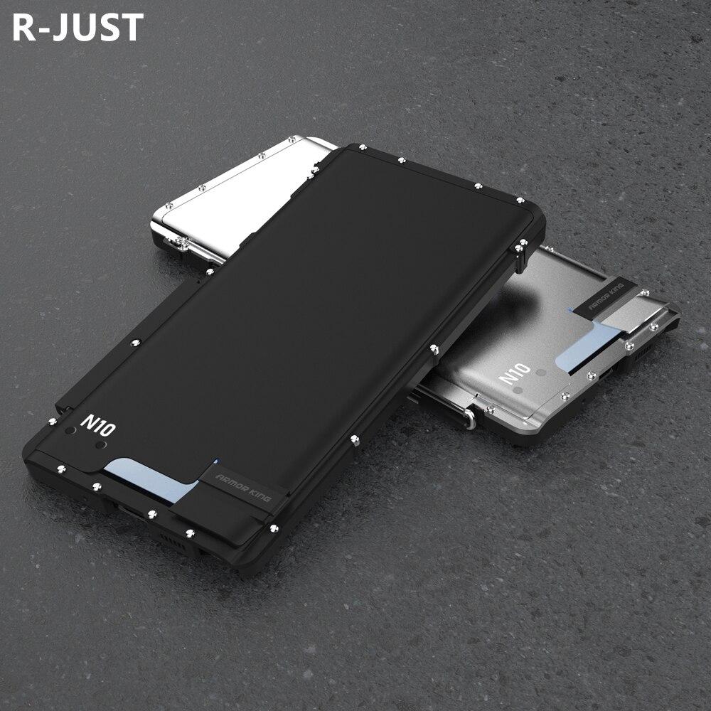Para Samsung Note 10 Plus, funda con tapa, carcasa de lujo de Metal duro de Nylon híbrido, carcasa protectora para teléfono Samsung Note 10 Capa