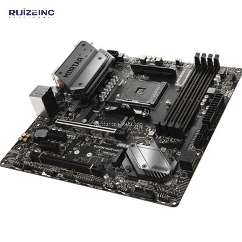 High Quality Desktop Computer  B450M MORTAR 64GB DDR4 AM4 M ATX Gaming Motherboard