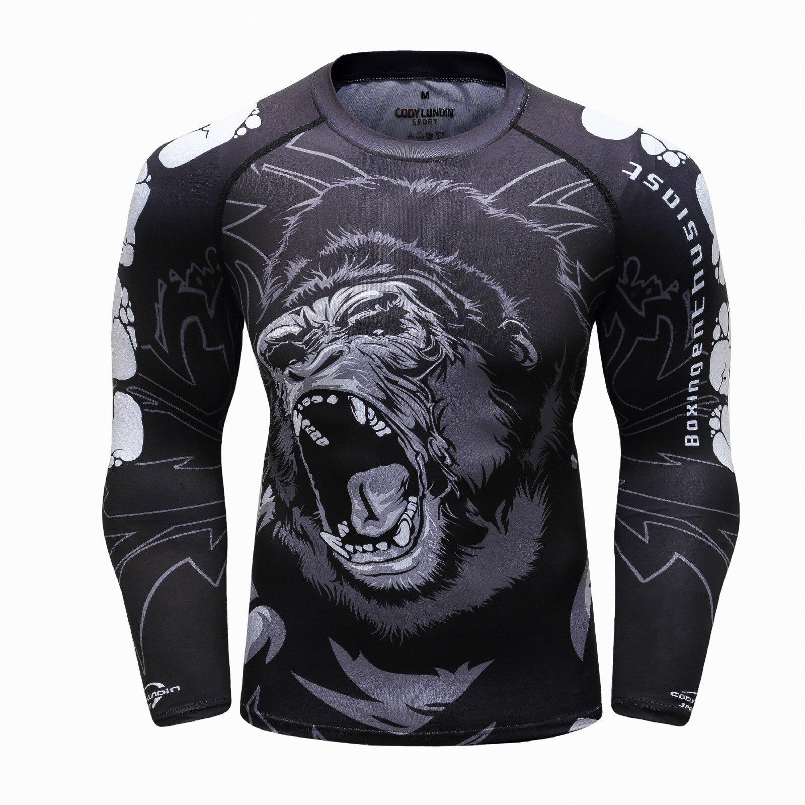3D MMA t shirt herren rashguard jiu jitsu bjj t-shirt compression shirt muay Thai atmungsaktive boxing trikots kampf jersey männer der