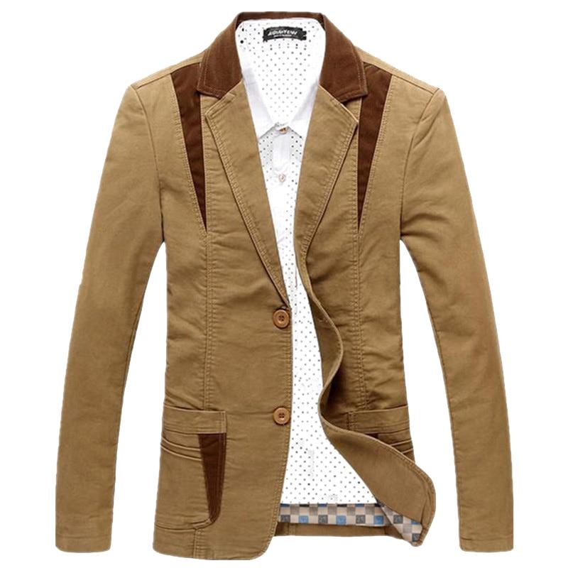 Брендовый мужской повседневный Блейзер, Дизайнерский Модный мужской пиджак, Мужской Блейзер, мужская приталенная одежда, мужской пиджак ра...