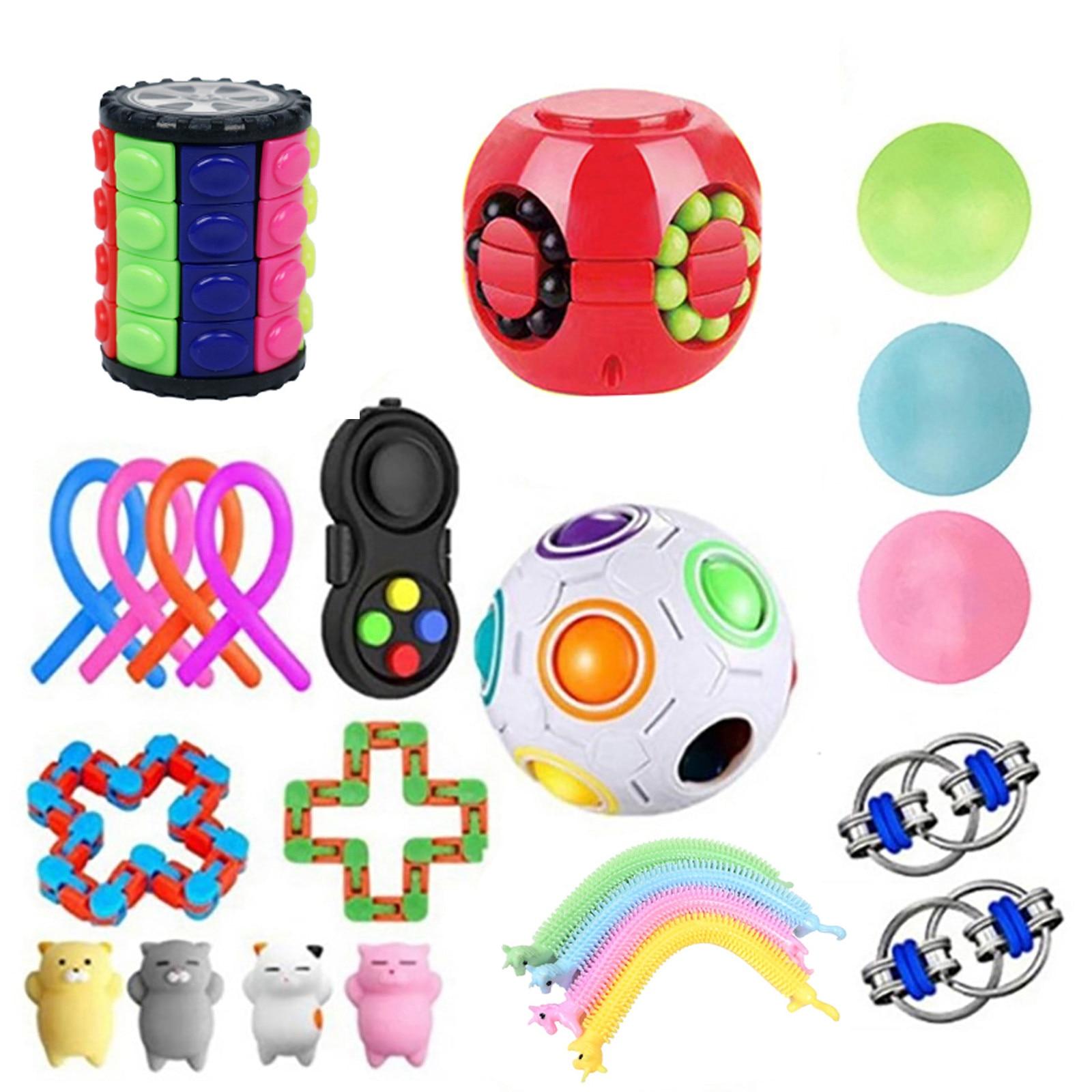 Fidget Toy Set Cheap Sensory Toys Pack For Kids Or Adults Figetget Toys Pack Figit Toys Set Edc Stress Relief Push Bubble Juguet enlarge