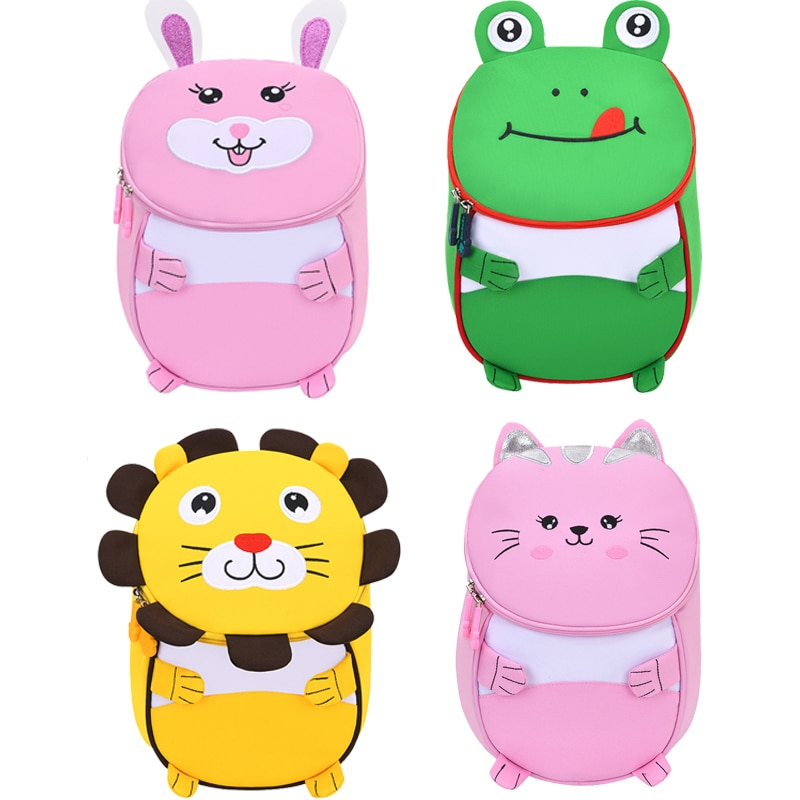 2021 New 3D Children School Bags for Girls Boy Children Backpacks Kindergarten Cartoon Animal  Kids Backpack for 2-5 years bags