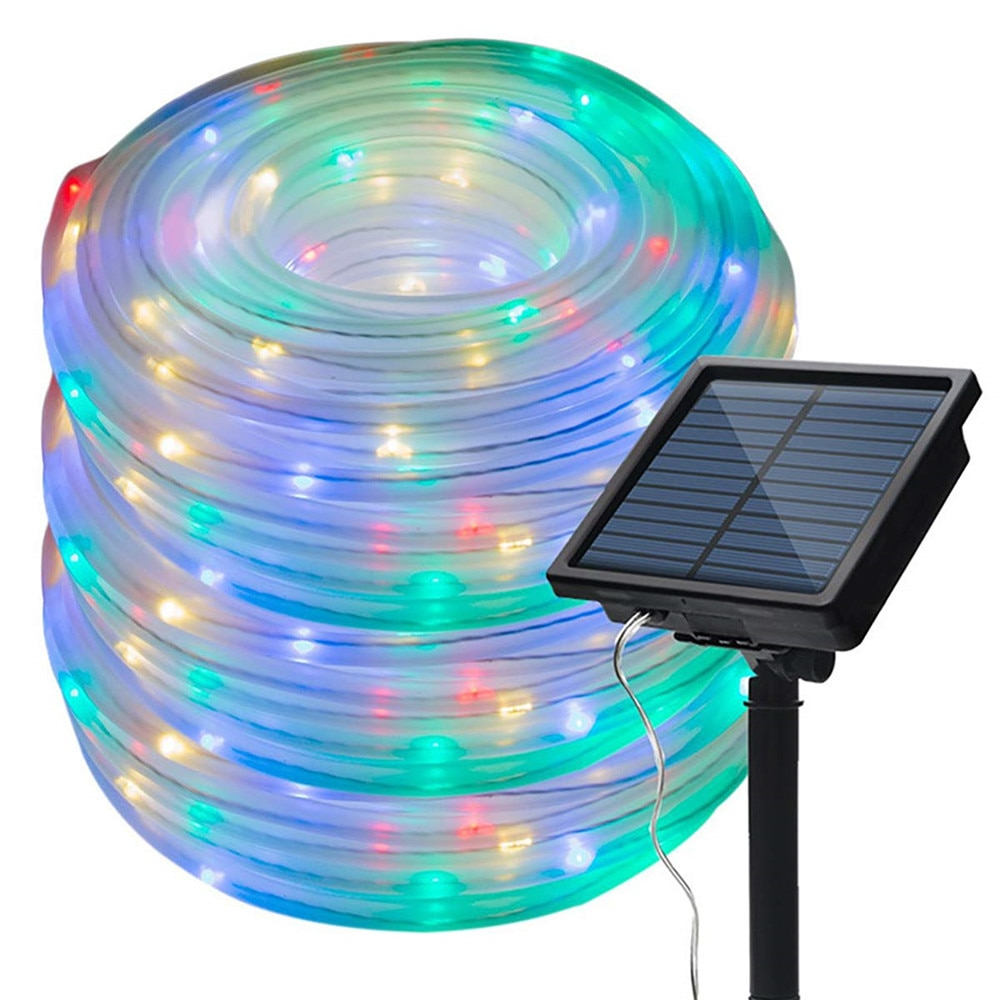 50/100 LEDs Lights night Outdoor Solar Waterproof Rope Tube Garland Solar Powered Rope Tube String Decoration Party Wedding