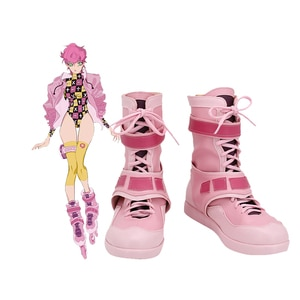 JoJo's Bizarre Adventure Trish Una Cosplay PU Boots Shoes Custom Made Any Size For Girls