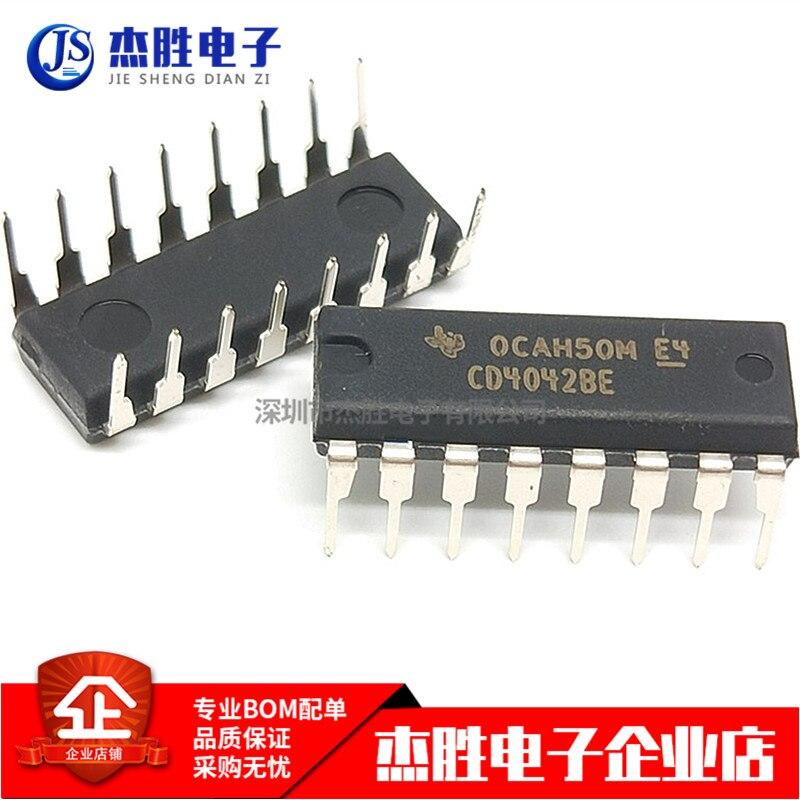 10 piezas CD4042BE CD4042 DIP-16 D