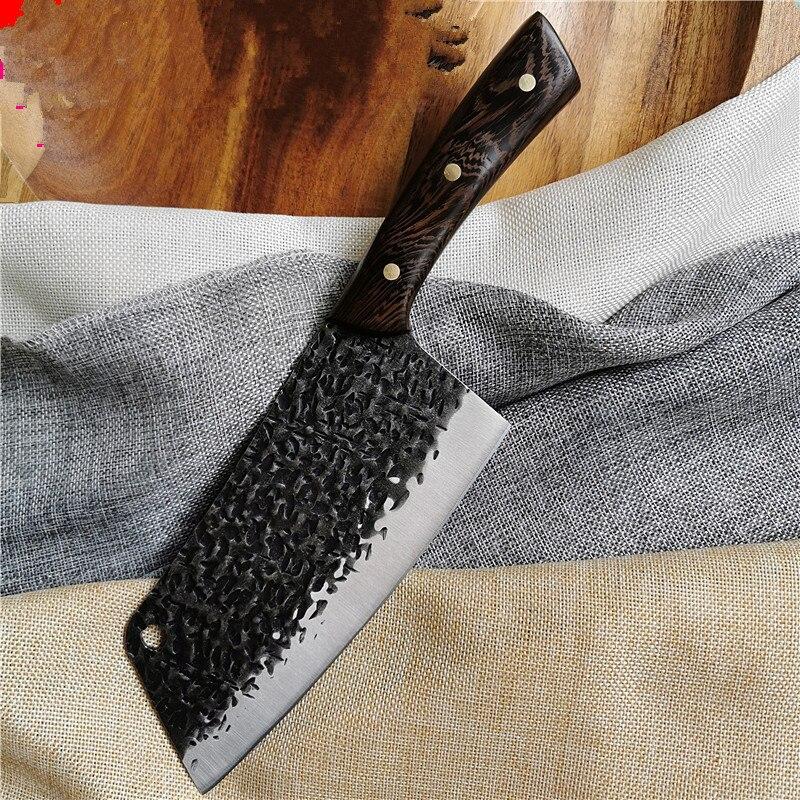 Кухонный нож мясника, резец шеф-повара из нержавеющей стали, острый, для нарезки мяса, нож для мясника с деревянной ручкой нож для нарезки мяса 2900 293525 350 мм черный