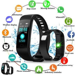 Fitness Bracelet With Pressure Measurement Fitness Tracker Health Cardio Bracelet Heart Rate Blood Pedometer Smart Wristband