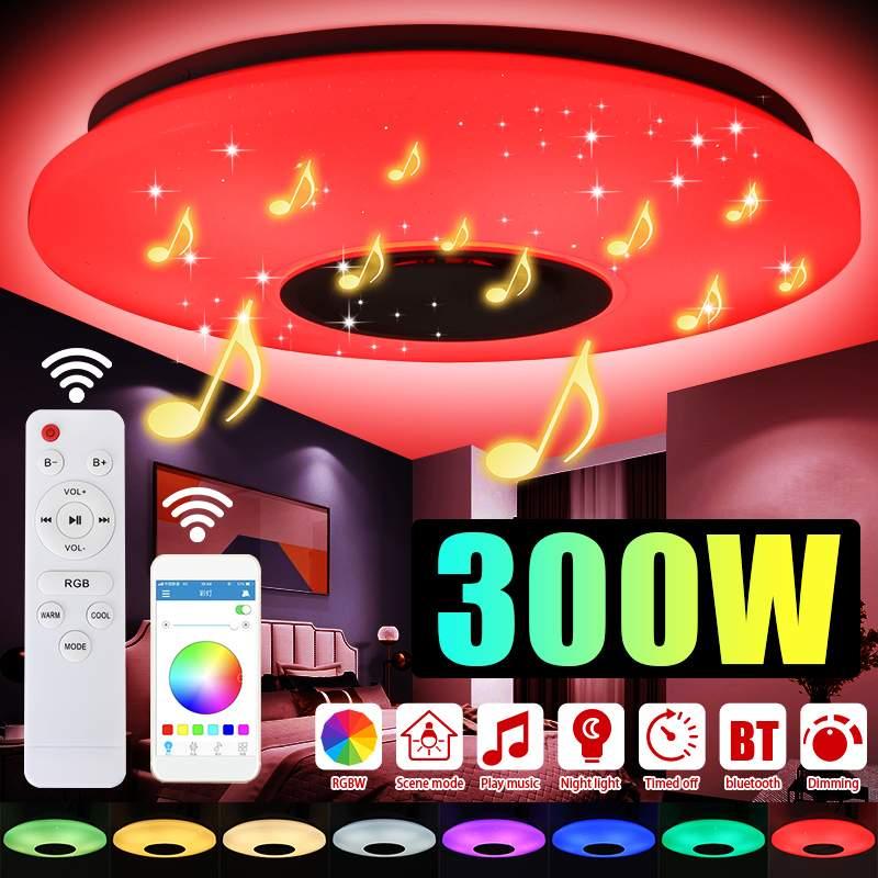 300 واط 102 LED RGB ضوء السقف AC220V بلوتوث سماعة موسيقية مصباح عن بعد APP التحكم عكس الضوء الحديثة الذكية المنزل كشاف إضاءة للحفلات
