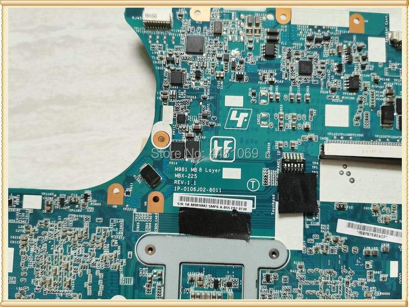 A1771579A VPCEC serie M981 lapto MBX-225 Tablero Principal para VPC-EC serie VPCEC2TFX placa base portátil s988a w/1 GB HM55