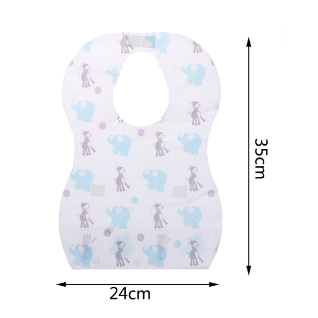10/20pcs/lot Sterile Disposable Bib Children Baby waterproof Eat Bibs With Pocket Baby kid scarf bib saliva towel bib Convenient 10