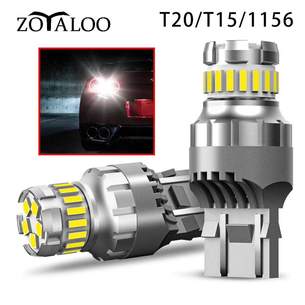2pcs T20 T15 1156 LED Canbus Light For Lada Kalina Granta Vesta DRL LED Bulbs 12V 6500K White Super Bright 3030 4014 SMD