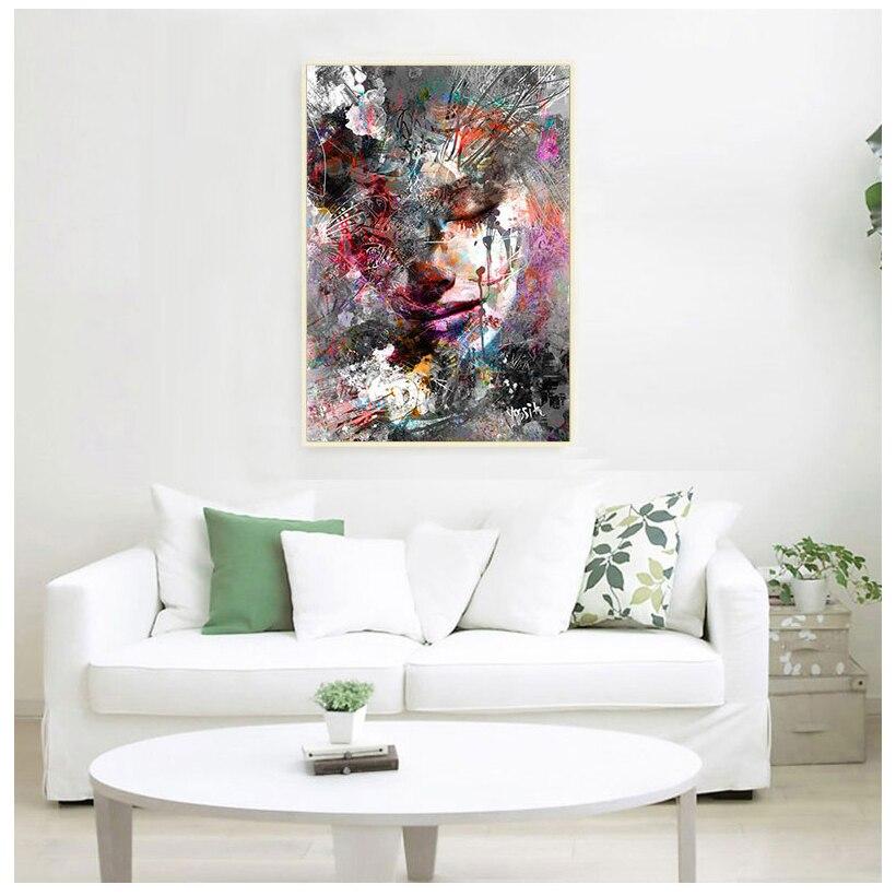 Abstracto pared pinturas, arte de la lona arte de la pared impresiones...