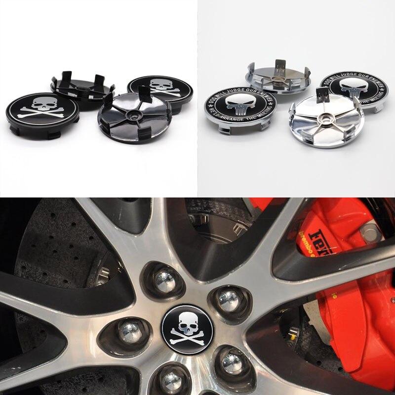 Крышка автомобильного колеса, Центральная крышка колеса, 4 шт. 60 мм, используется для модификации автомобильных частей Ghost head, изысканная мод...