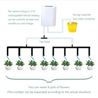 intelligent garden automatic watering pump controller indoor plants drip irrigation device water pump timer watering system kit