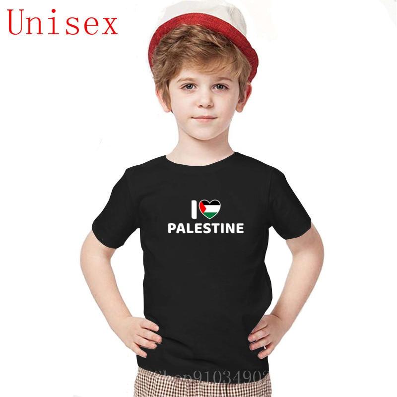 Camisetas a la moda pop I Love palestina, camisetas casuales para niños, 100% de algodón, ropa para niños, camisetas para niñas de 8 a 12 años, ropa para niñas