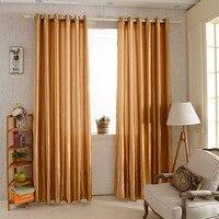 12 Color Window Curtains For Living Room Bedroom Rod Pocket Grommet Top Modern Satin Underlay Blackout Translucent Panel Curtain