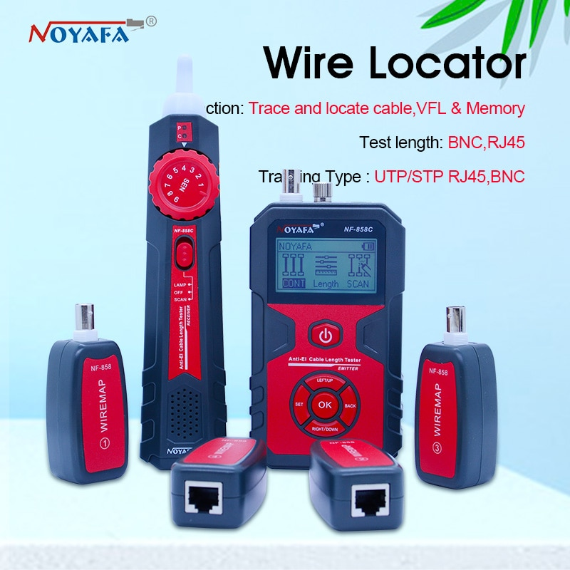 Localizador de línea de Cable NF-858C RJ11 RJ45 BNC, localizador de Cable...