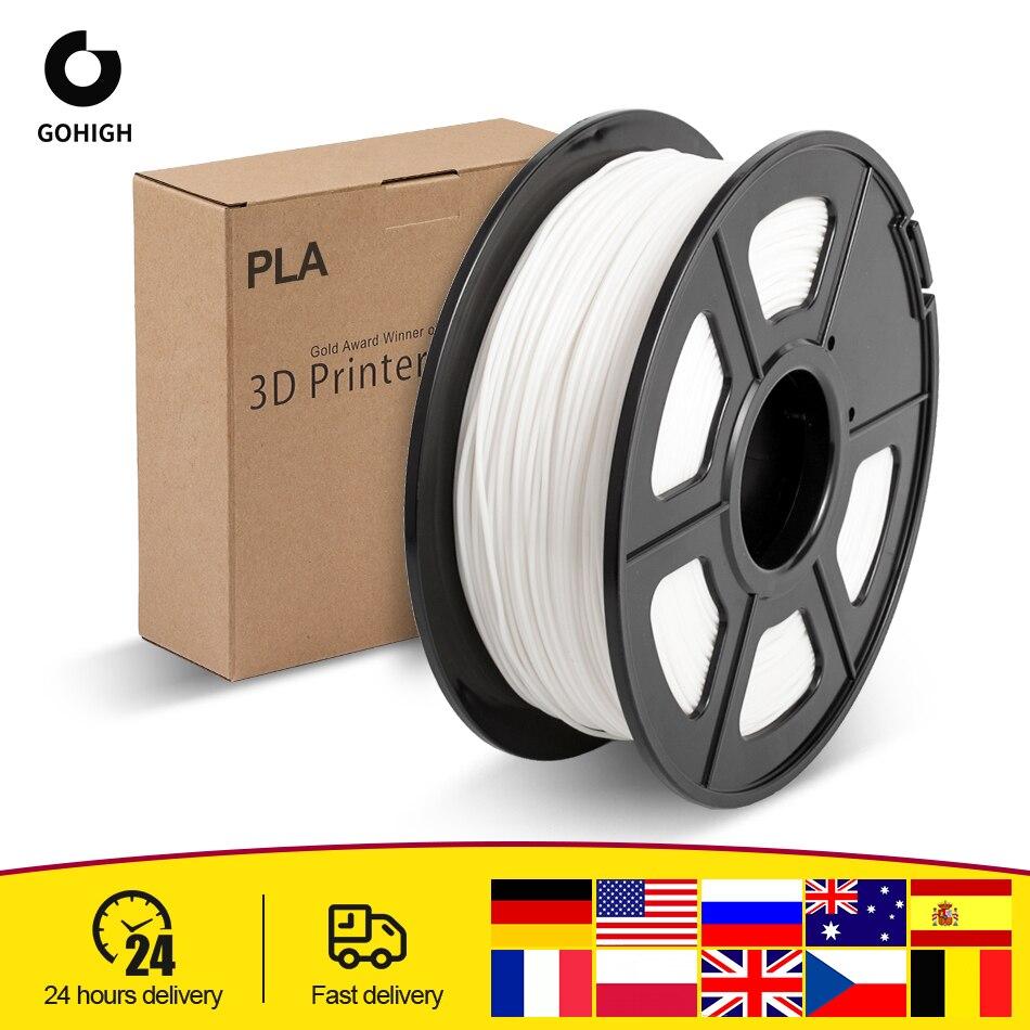 GOHIGH PLA Filament 1KG PLA Material Sample 3D Consumables Printing Flexible 3D Printing Material for 3D Printer & Pens