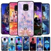 disney castle for xiaomi redmi note10 10s 9t 9s 9 8t 8 7 6 5a 5 4 4x prime pro max soft silicone phone case