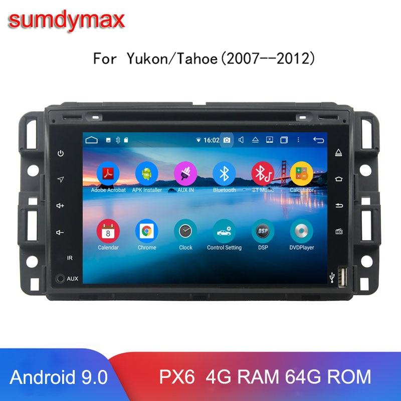 4G RAM 64G ROM Android 9 reproductor de audio gps para GMC Chevrolet Chevy Yukon Sierra Tahoe, Acadia de