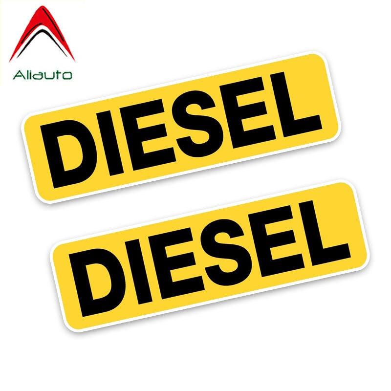 Aliauto 2 X модная наклейка на автомобиль напоминание дизельное топливо только украшение водонепроницаемые виниловые наклейки для Nissan Suzuki peugeot, 10 см * 3 см