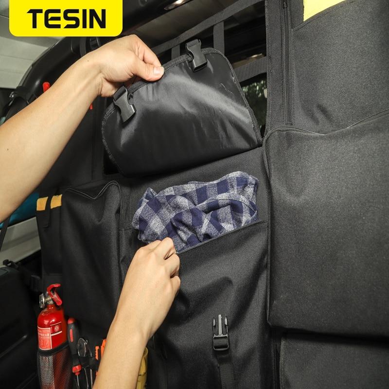 TESIN Stowing Tidying For Jeep Wrangler JK JL JT 4-Door Car Seat Back Storage Bag Trunk Accessories For Jeep Wrangler JK JL JT enlarge