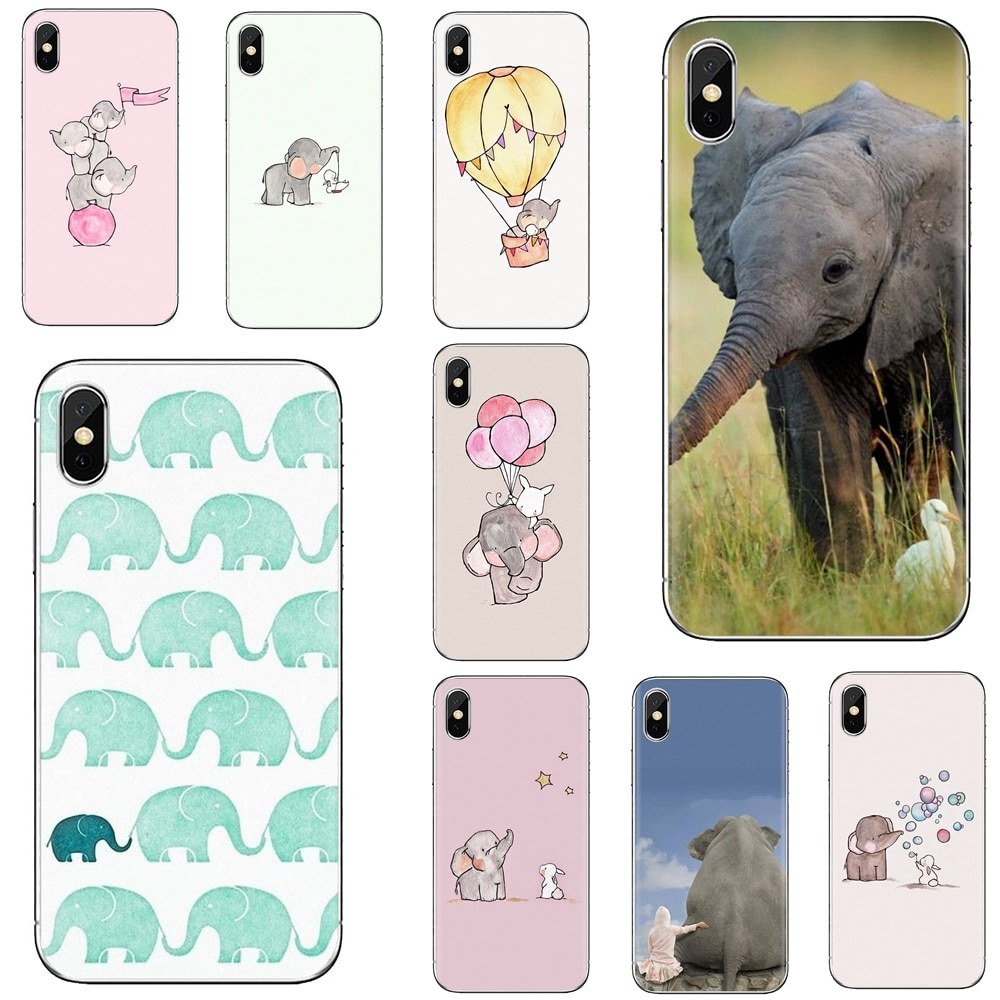 Phone Soft Cover Cartoon cute elephant and rabbit For Huawei Mate Honor 4C 5C 5X 6X 7 7A 7C 8 9 10 8C 8X 20 Lite Pro