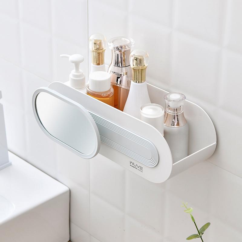 Estante de almacenamiento para duchas de baños grueso, organizador de plástico, soporte...