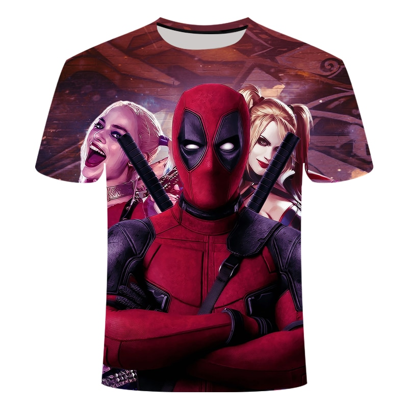 2019 Harajuku camiseta Deadpool camiseta pantalón corto casual para hombre Camiseta Im Marvel rookie cool ropa de calle para hombres