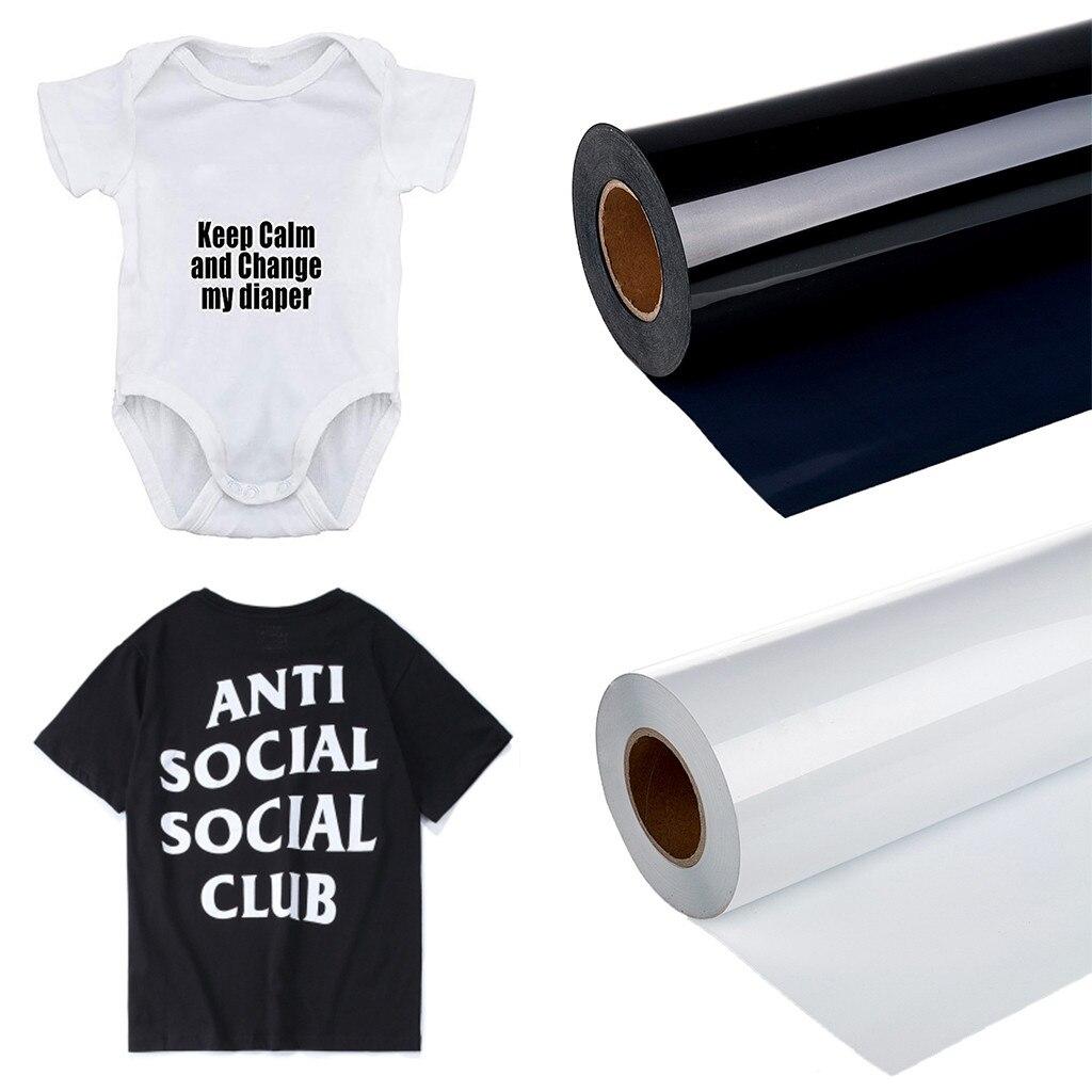 1 Roll Vinyl Heat Transfer Iron On T-shirt Film Diy Garment Film Silhouette Paper Art Multi-color Heat Transfer Clothes Stickers