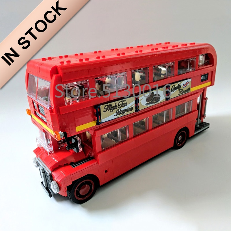 In stock 21045 1686pcs City Creator London Bus Building Block Bricks Toy  10258 DIY Toys Children Gifts