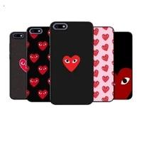 play comme des garcons heart phone case for xiaomi mi5 mi6 mi8 mi9 mi10 f1 x se lite pro note mix 2 3 10 cover
