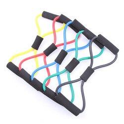 Recentemente controle de expansão de peso tubo de borracha puxar na corda fitness elástico banda yoga 8 palavra