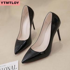 High heels 10 cm black high heels red high heels wedding shoes high heels bridal shoes Estiletos Mujer 2019 ladies high heels