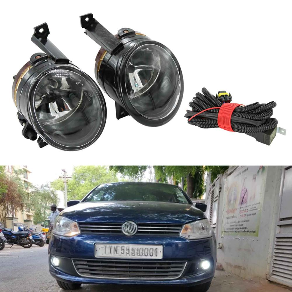 For VW Polo Vento Sedan Saloon 2011 2012 2013 2014 2015 2016 Front Halogen Fog Light Fog Lamp Wire Harness Assembly