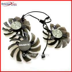Вентилятор охлаждения для видеокарты Gigabyte GTX1050 1060 1070 1080 G1 N950OC N960G1 N970, 3 шт./лот, T128010SU, 12 в пост. Тока, 0.35A, 75 мм