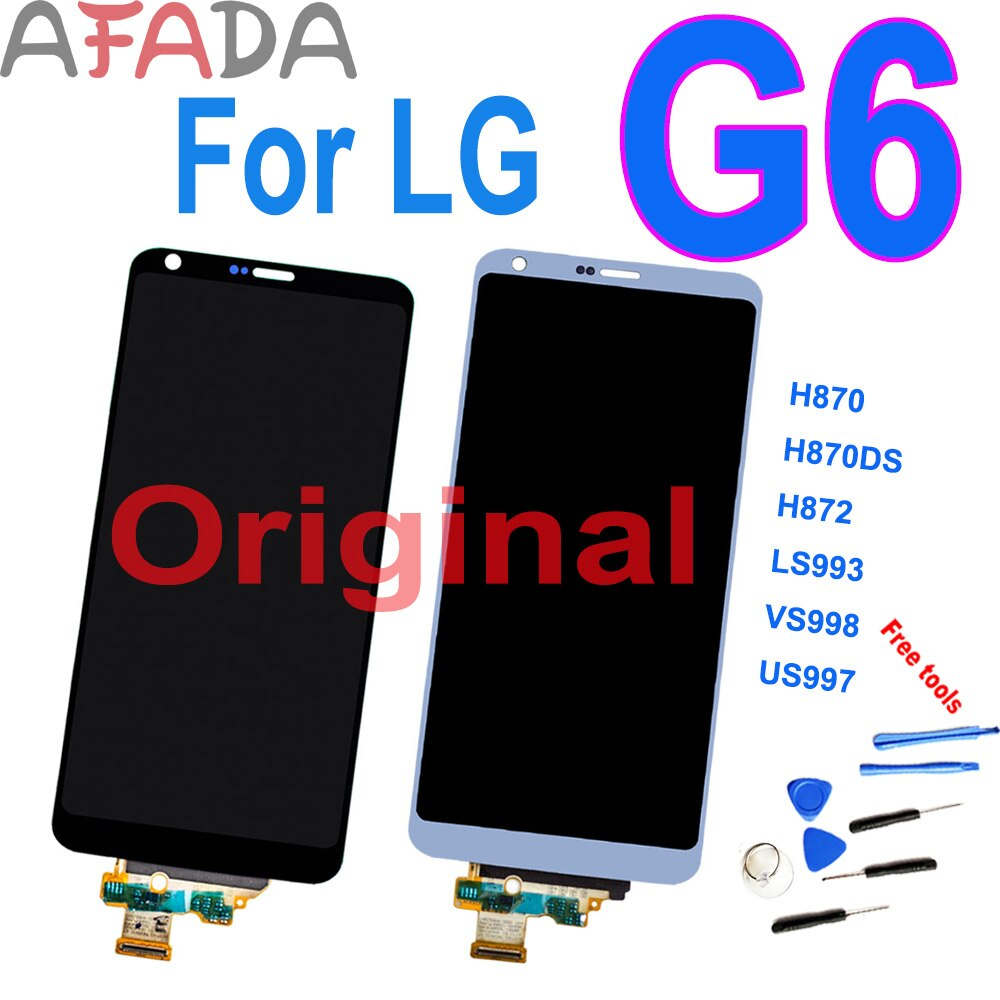 "AAA + 5,7 ""Original para LG G6 H870 H870DS H872 LS993 VS998 US997 pantalla LCD y montaje de digitalizador con pantalla táctil con marco 10 Uds"