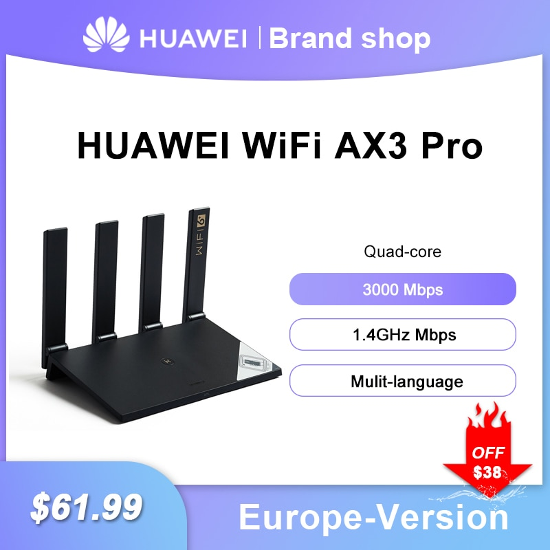 Huawei WiFi AX3 Dual-core AX3 Pro Quad-core Router WiFi 6+ 3000Mbps 2.4GHz 5GHz Dual-Band Gigabit Rate WIFI Wireless Router