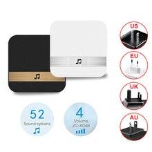 1Pcs AC90-250V Smart Indoor Doorbell chime Wireless WiFi Door Bell US EU UK AU Plug app control For
