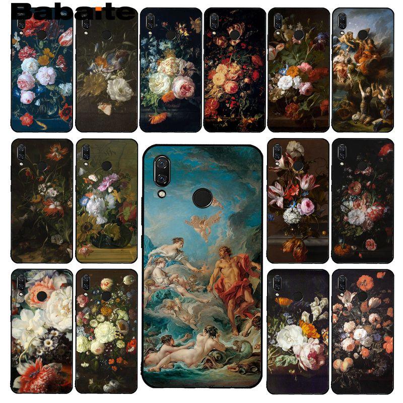 Babaite gran pintura Flor Mariposa florero arte estético PhoneCase para Xiaomi Redmi8 4X 6A 9 Go Redmi 5 5Plus Note4 5 7 Note8Pro