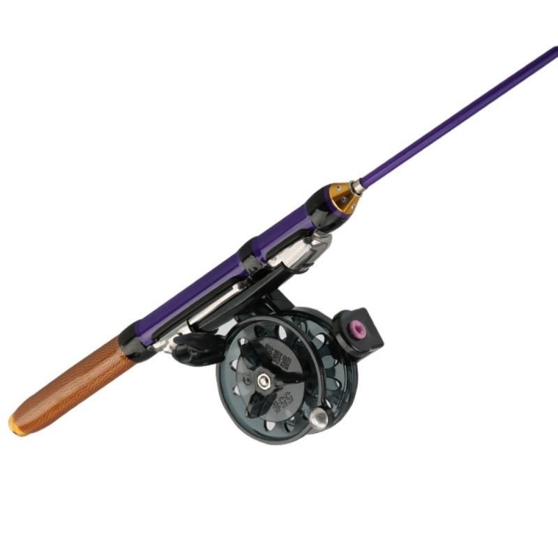 Varilla de fibra de vidrio para pesca en hielo de 50cm 70 cm, cañas de pescar para invierno o carretes de pesca, para elegir, cañas de pescar, Combo de accesorios de pesca