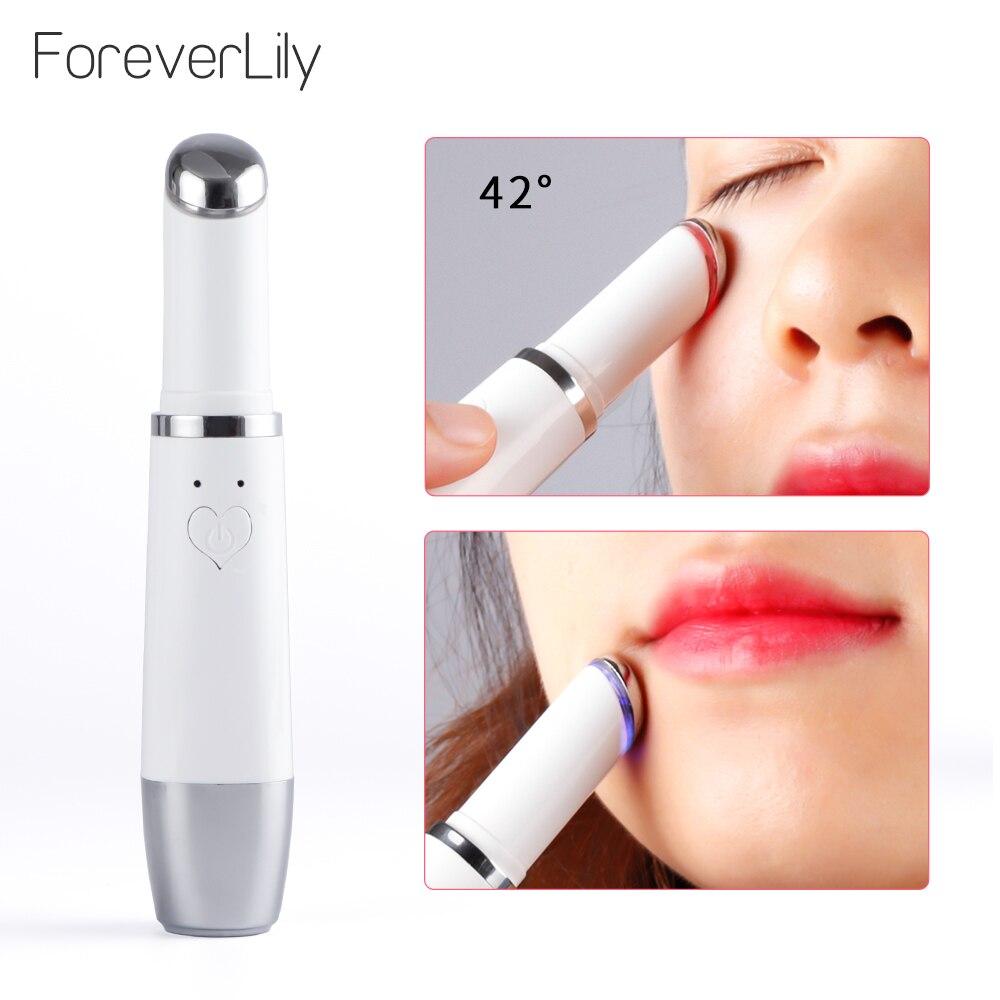 Mini Ultrasonic Eye Lip Facial Massage Skin Care Pen Iontophorm Remove Eye Bags Dark Circles Eye Car