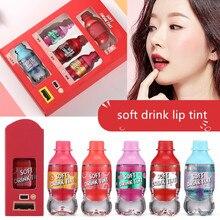 New Hot Sales Fruit Color Lip Tint Idol Soft Drink Lip Tint Long Lasting Matte Lip Gloss Cute Liquid Lip Stick For Women