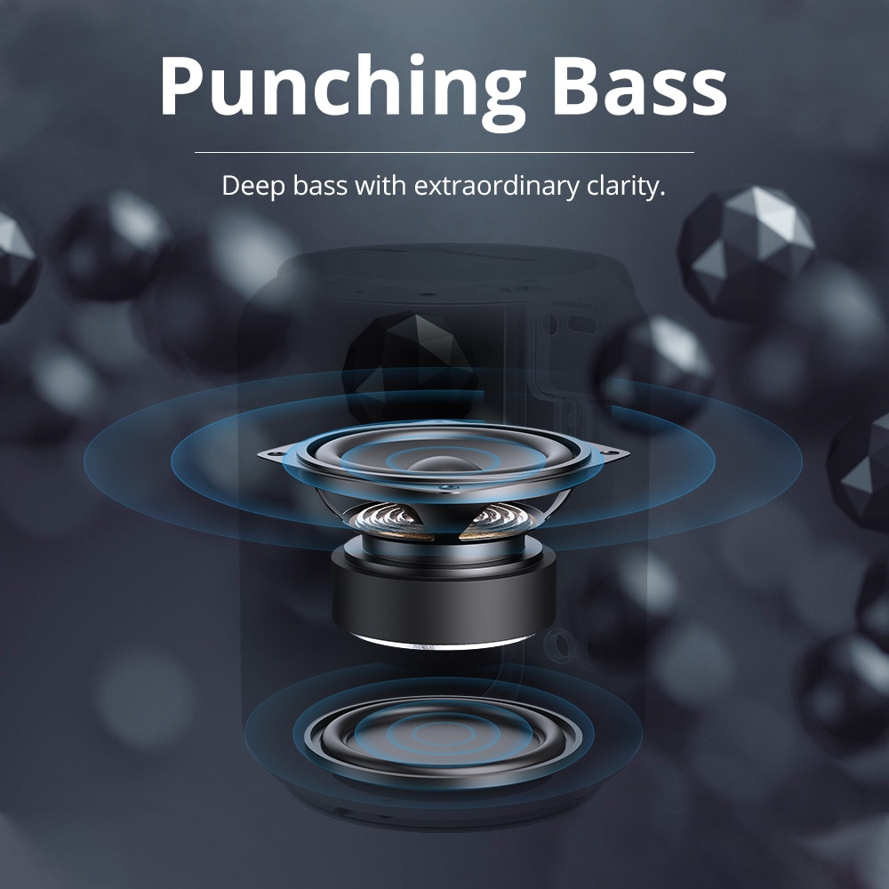 Latest trend Mini Bluetooth 5.0 Speaker with Voice Assistant,360-Degree Surround, Deep Bass, IPX6 Waterproof enlarge