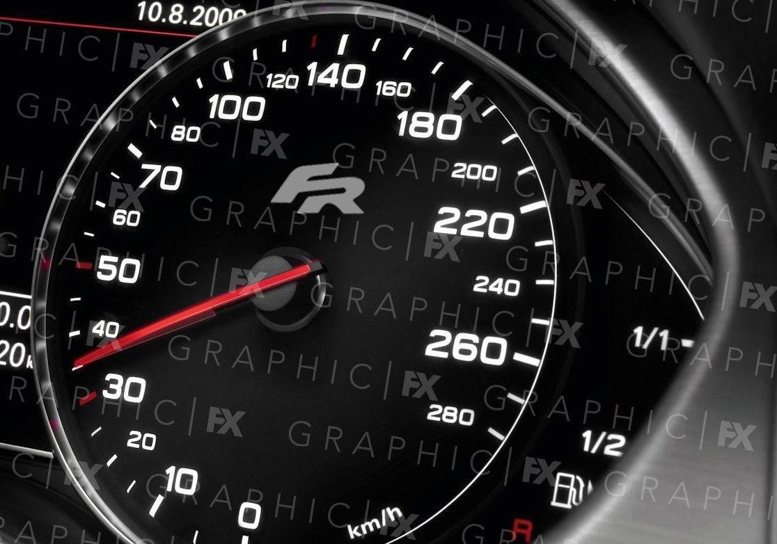 Pegatinas de vinilo para x6 Seat Cupra FR, velocímetro, logotipo de Speedo, pegatinas para interiores