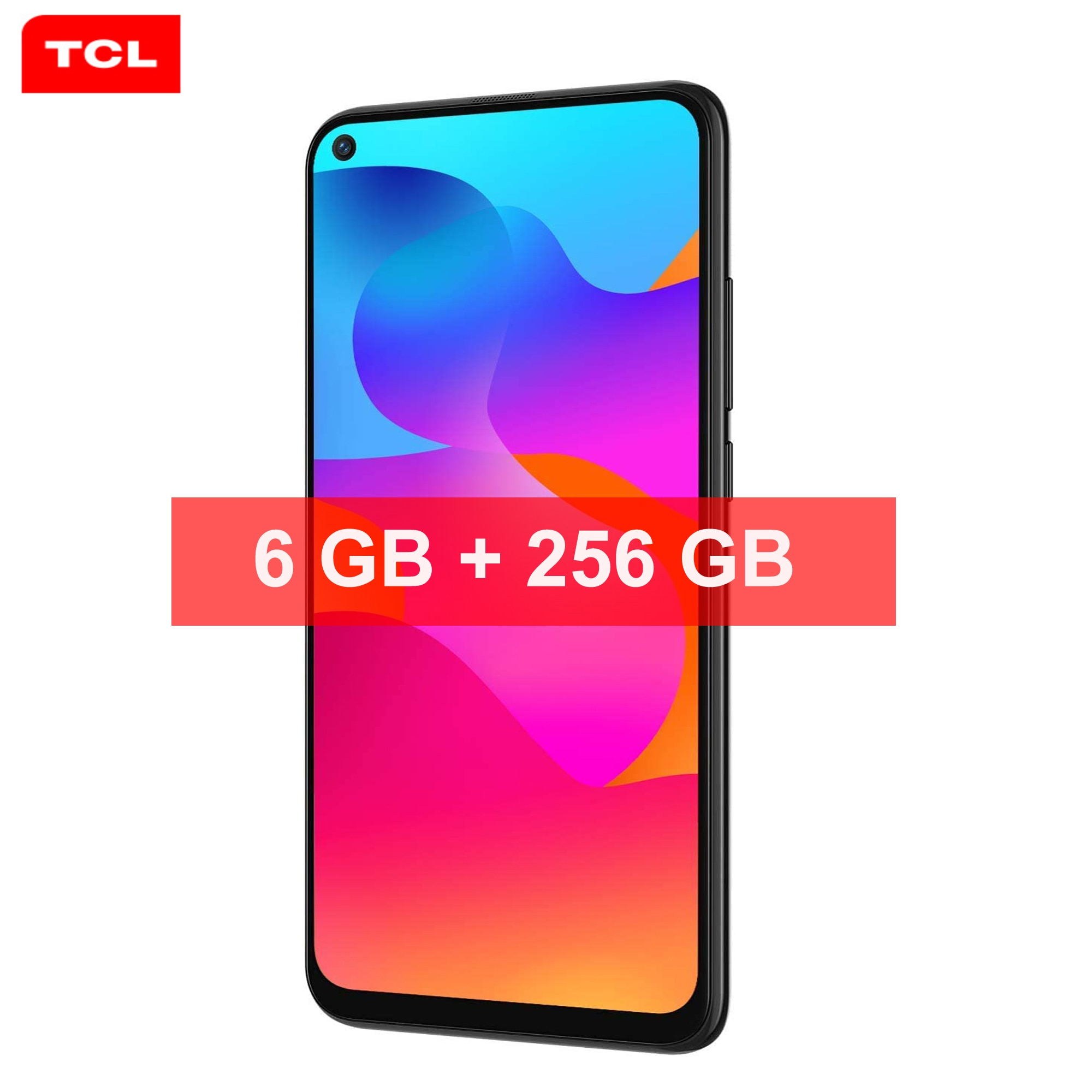 TCL 10L 6 ГБ + 256 ГБ 4000 мАч Android 10,0 смартфон на базе восьмиядерного процессора 6,53 дюйм HD + 48MP сзади Камера Face ID, функция отпечатков пальцев, 4G, мобильный ...