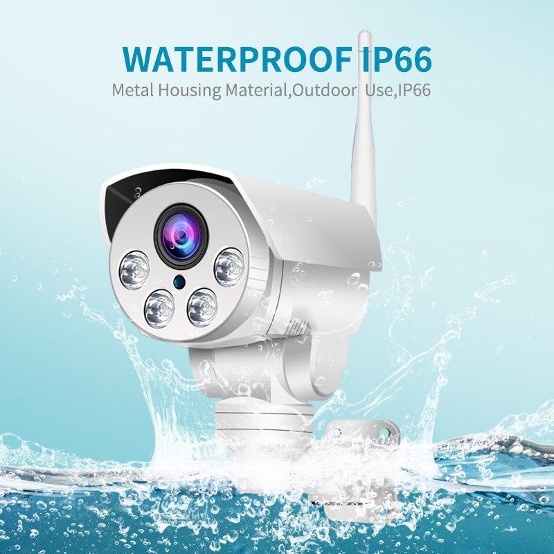 Cámara PTZ para exteriores 5X 10X con Zoom óptico 2MP 5MP inalámbrica IR noche Onvif SD tarjeta CCTV de Audio Cámara