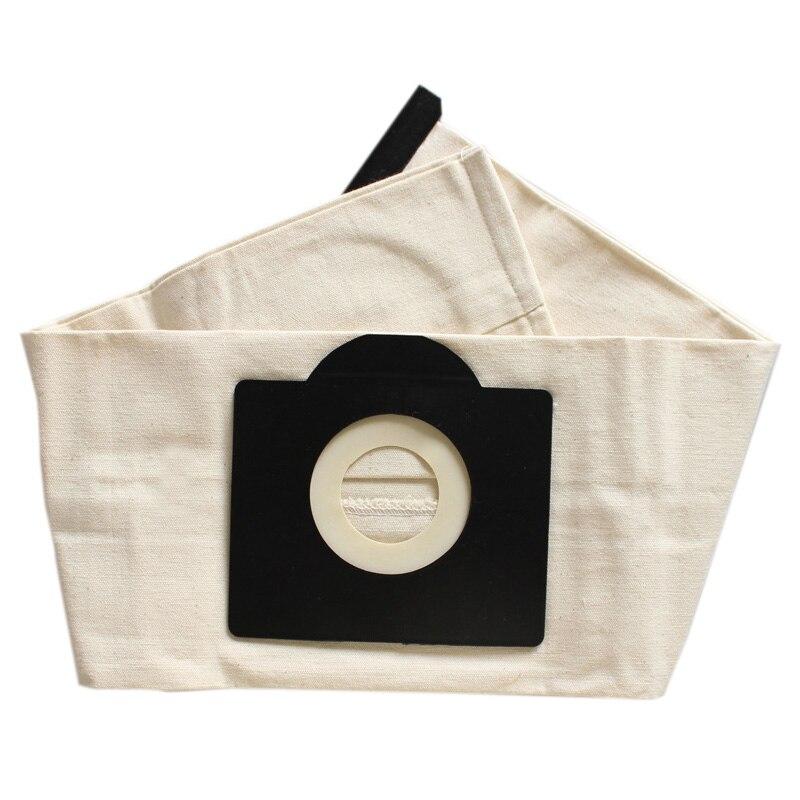 Mejores ofertas 2 uds. Bolsas de filtro lavables para Karcher WD3 Rremium WD3200 SE4001 WD3300 Wd2 SE 4000 MV3 bolsa de aspiradora