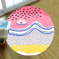 funny eye carpet square anti skid area floor mat 3d rug non slip mat dining room living room soft bedroom carpet 03
